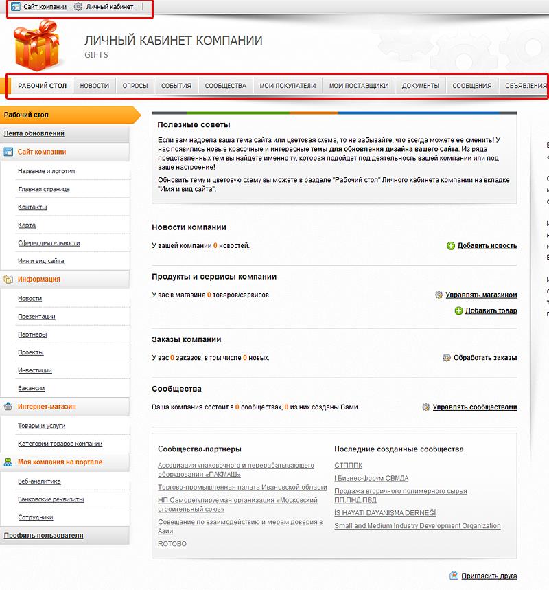 Инструкция по управлению сайтом
