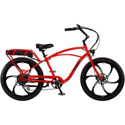 "Pedego Interceptor 26"" Classic Neon Orange with Mag Wheels 48V..."