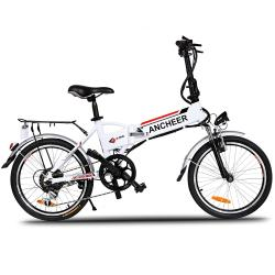 ANCHEER Power Plus Folding Electric Mountain Bike with Lithium-Ion...